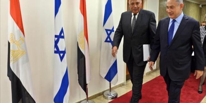 Sameh Shoukry dan Benjamin Netanyahu (aljazeera.net)
