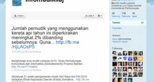Screenshot akun twitter @infomudikllaj