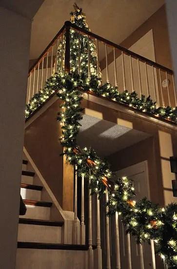 Decoraci 243 N Navide 241 A Para Escaleras