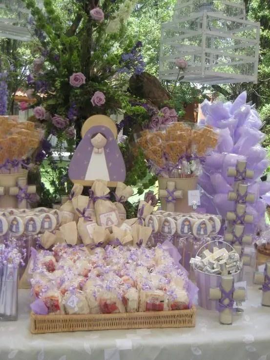 Tema virgencita - Ideas para mesas dulces de comunion ...