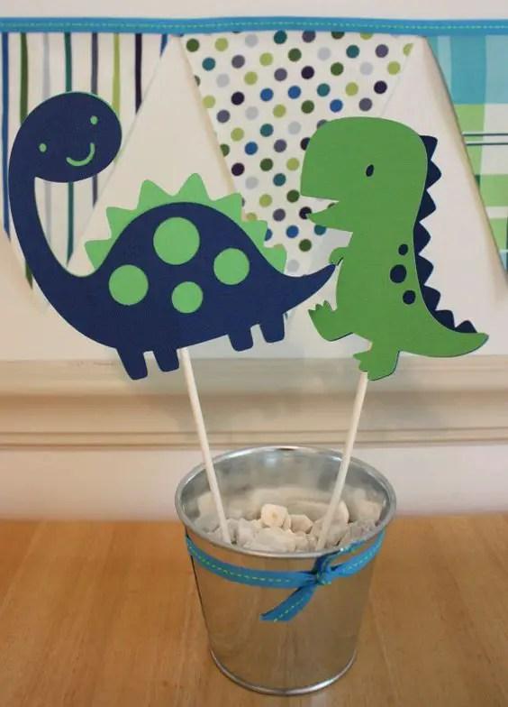 Centros de mesa dinosaurios - Preparar fiesta infantil ...