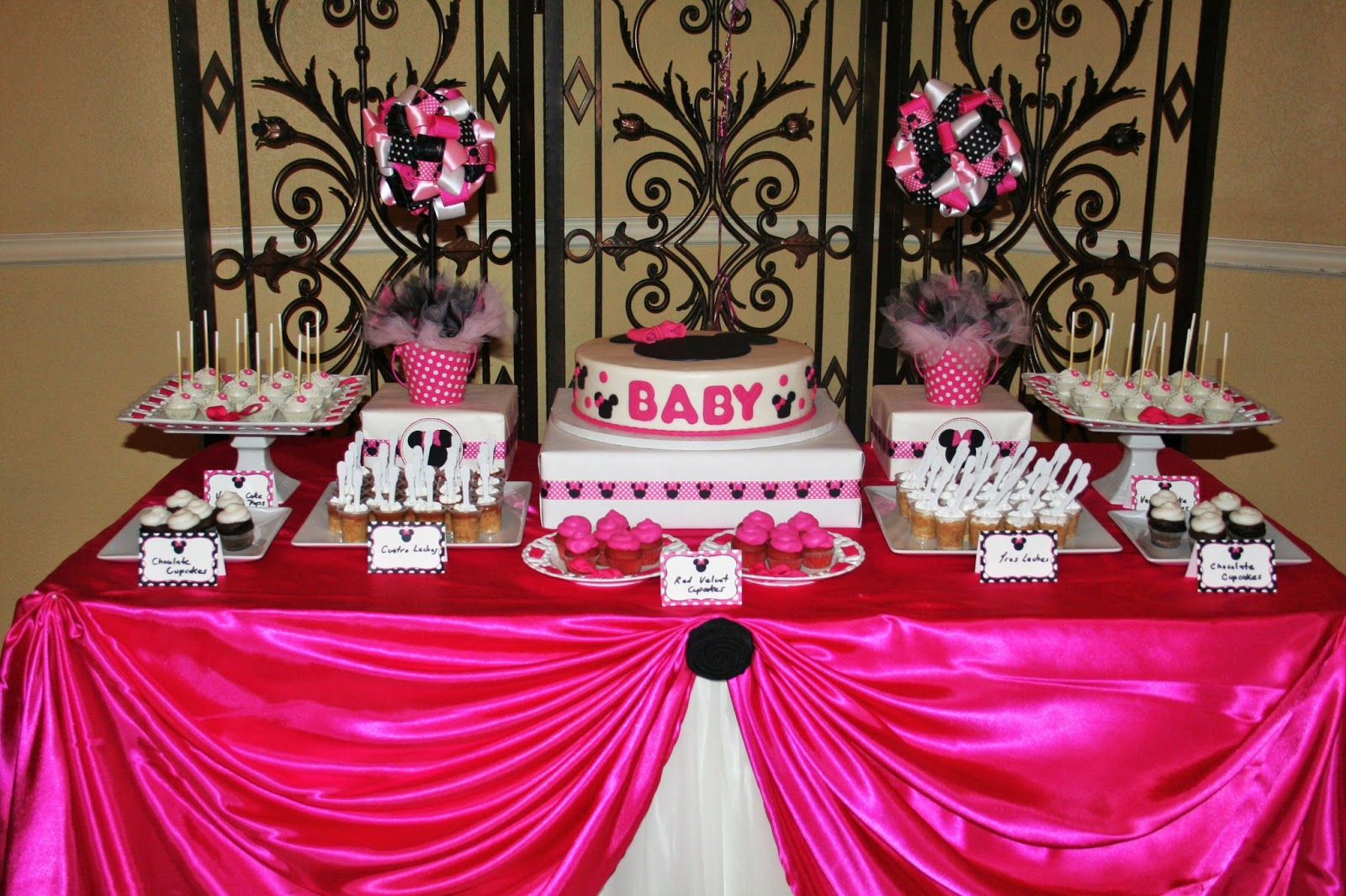 Baby shower minnie mouse dale detalles for Baby minnie decoration ideas