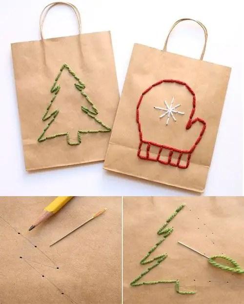 Envolturas originales para tus regalos de navidad - Como decorar bolsas de papel ...