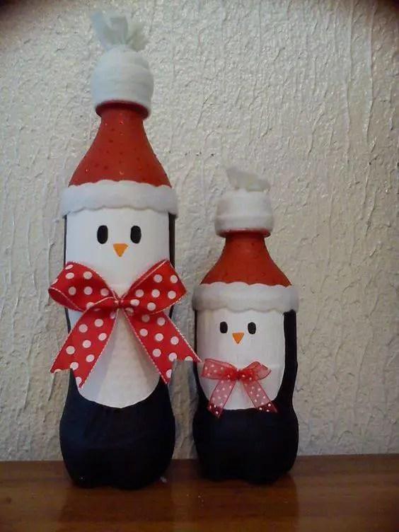 Decoraciones navide as con botellas de pl stico - Decoraciones navidenas con reciclaje ...