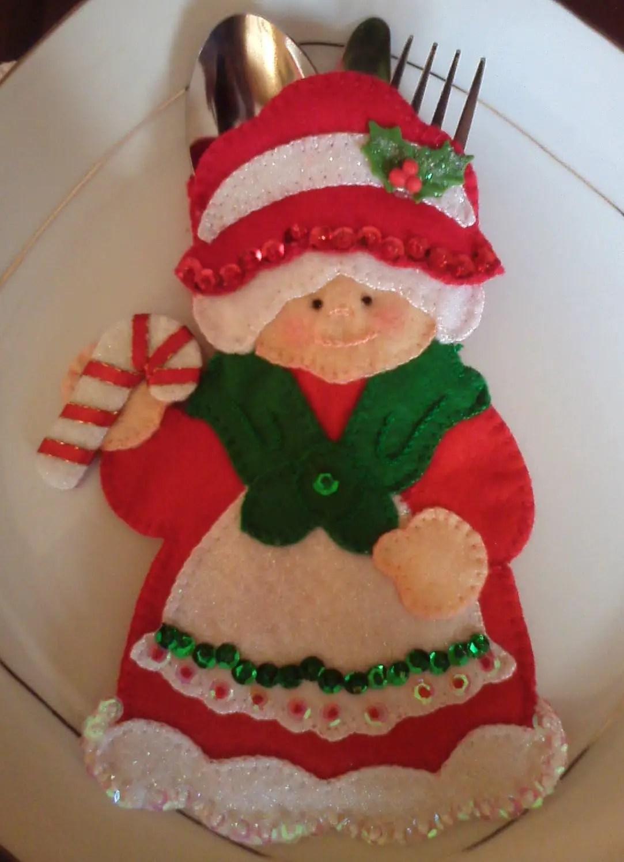 Porta cubiertos navide os - Manualidades para navidades ...