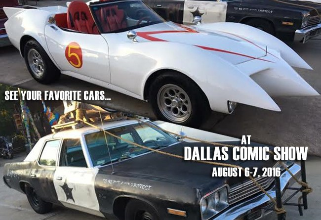 See your favorite pop culture cars at Dallas Comic Show this weekend!