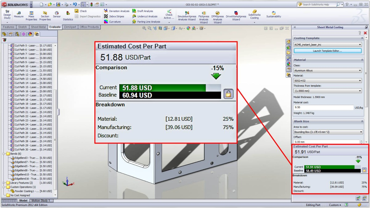 What's New in SolidWorks 2015 – Chapter 8: Costing