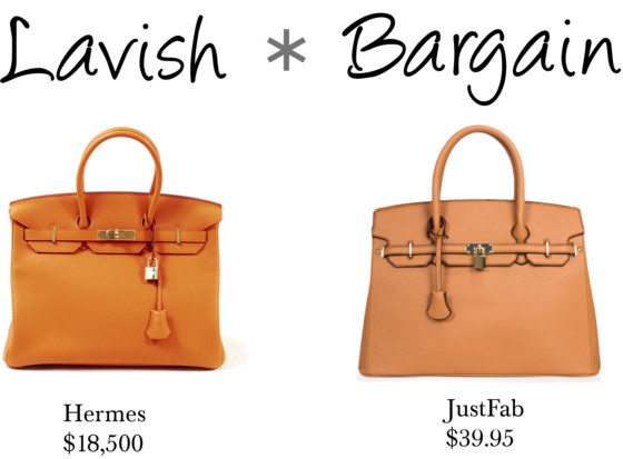 Lavish Bargain (Hermes and JustFab)