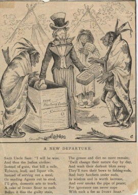 A Pears' Soap advertisement based on the fable Washing the Blackamoor White
