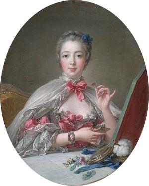 Madame de Pompadour at Her Toilette Boucher 1758
