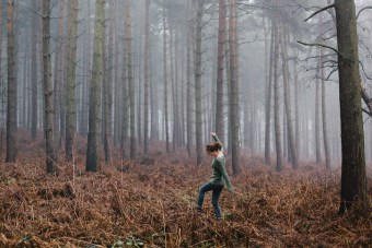 Kat in Harlow Wood, March 2013
