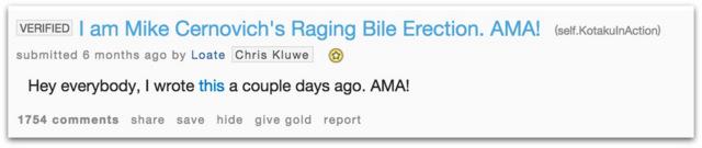 Chris Kluwe Reddit AMA