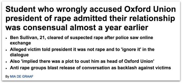 Oxford Rape Hoax
