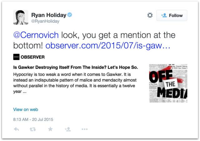 Ryan Holiday is a fraud.28 AM