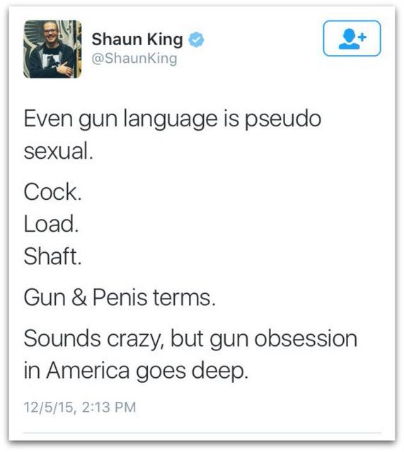 Shaun King guns as sex object