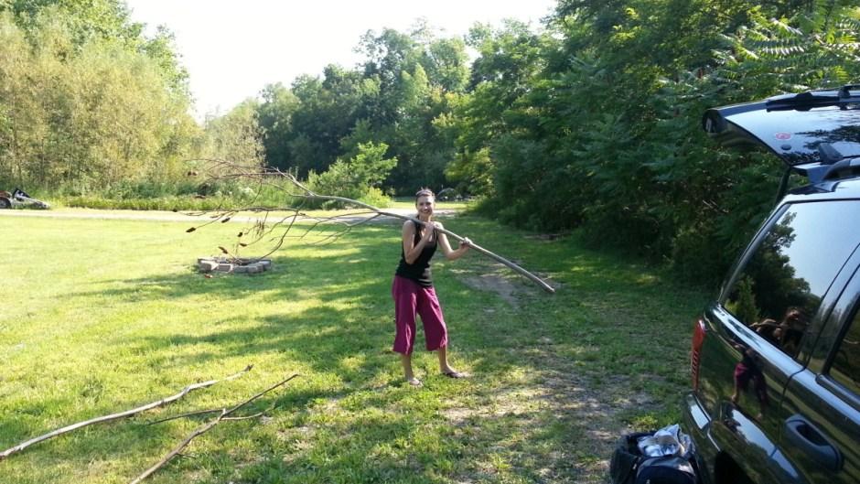 Angela Collecting Firewood