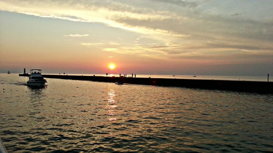 Sunset South Haven Pier