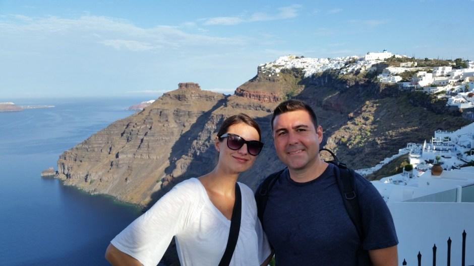 Start of Santorini Hike