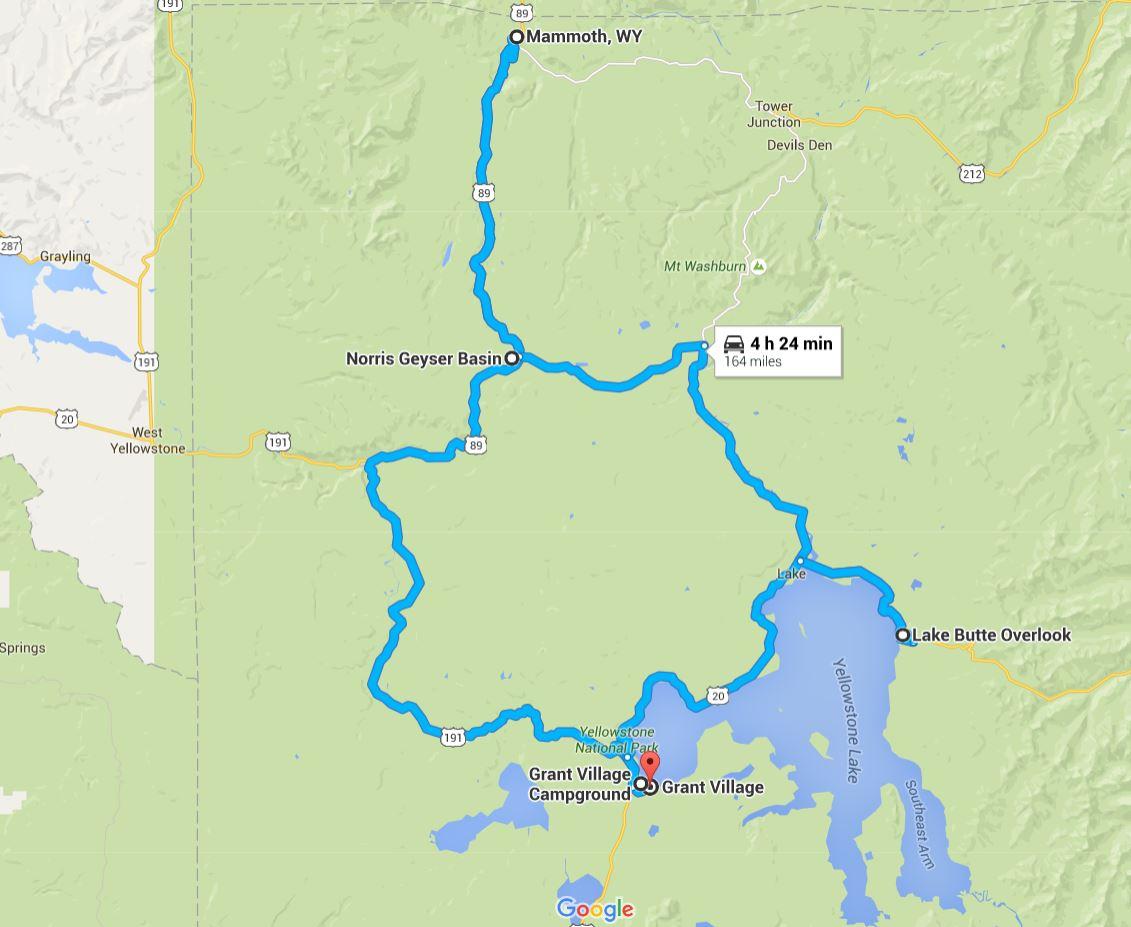 Northwest Yellowstone Map