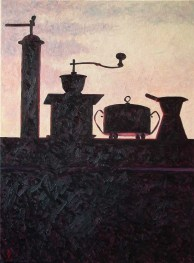 Contre-jour VII (Sunset Still Life) - oil on linen, 79x59.5cm, 2009