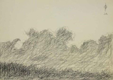 Sky 18 - pencil on paper, 25.4x36.7 cm, 2014