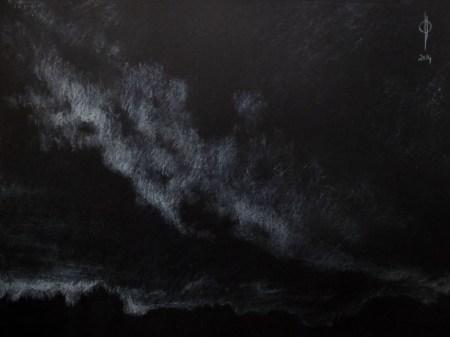 Sky 27 - chalk on paper, 34.5x45.9cm, 2014