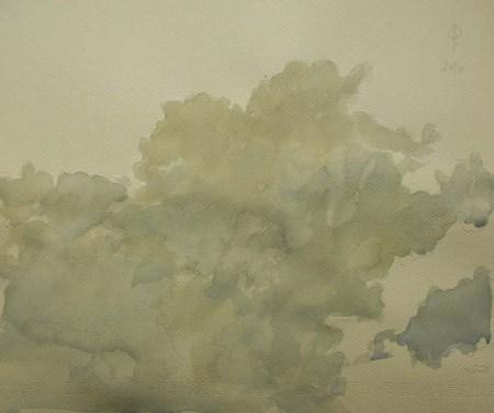 Sky 70 - watercolour on paper, 23.7x28.1cm, 2016