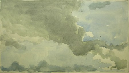 Sky 74 - watercolour on paper, 20x36cm, 2016