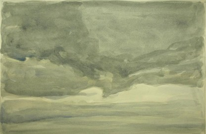 Sky 75 - watercolour on paper, 23x35cm, 2016