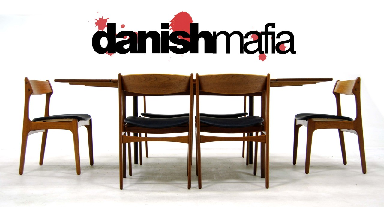 mid century danish modern teak dining table chair set 4 mid century kitchen table DM Store