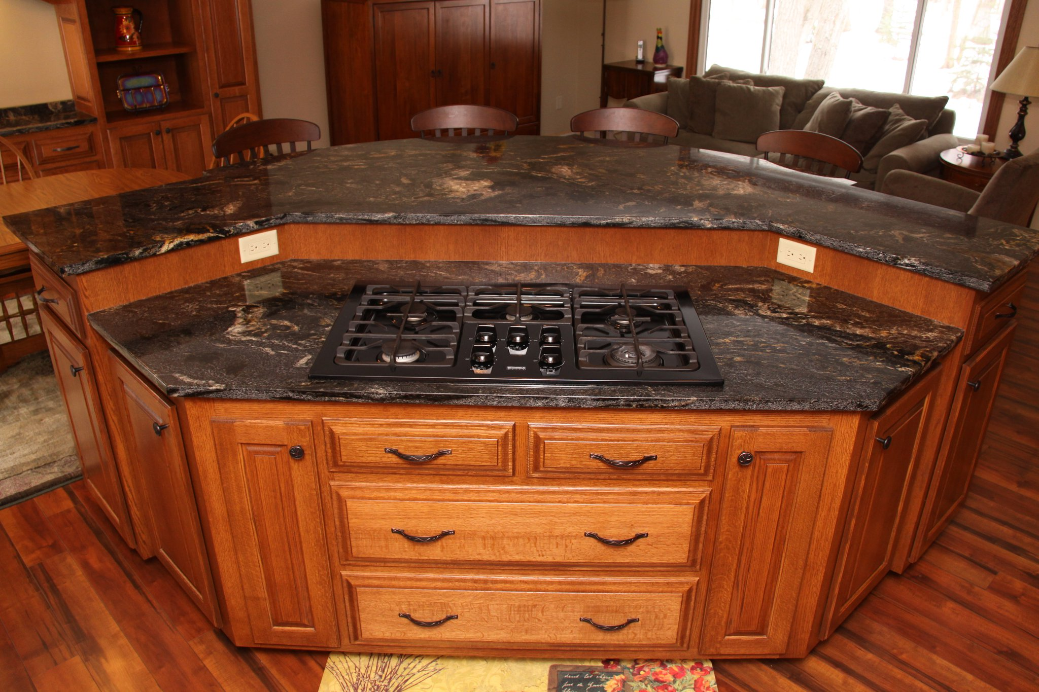 custom cabinets mn custom kitchen island custom kitchen islands A Custom Kitchen Island With All The Bells and Whistles