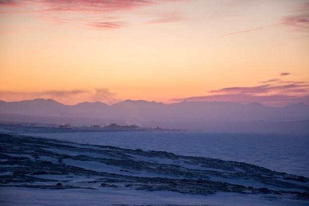 Eureka, Nunavut at dawn