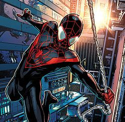 The comic version of Miles Morales
