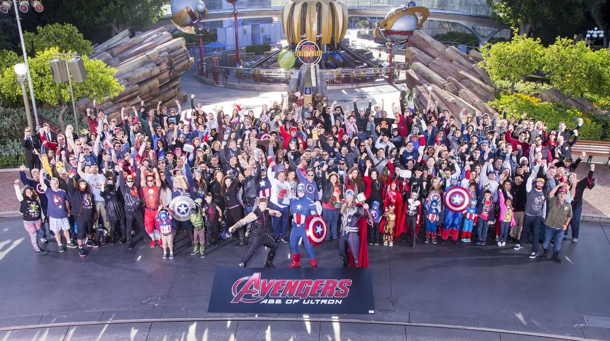 Marvel Fans Attend Avengers Event at Disneyland Park