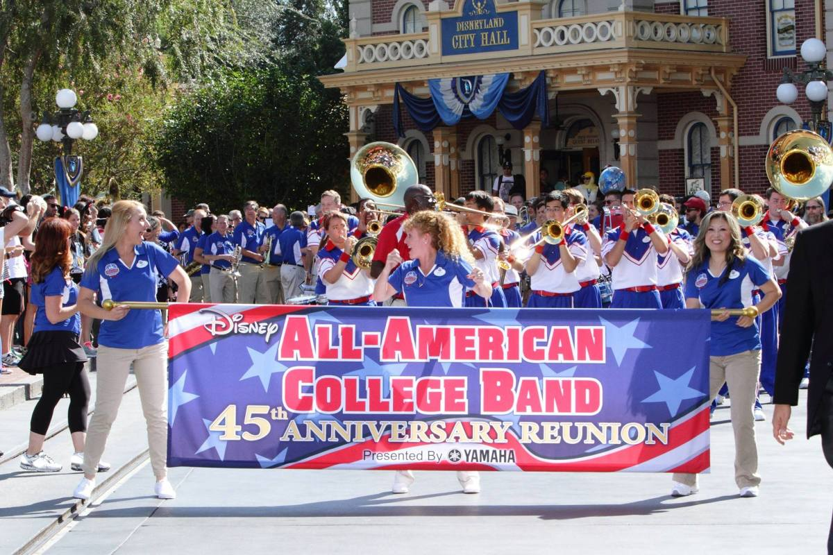 Disneyland Resort All-American College Band Joined by Alumni to Celebrate 45th Anniversary