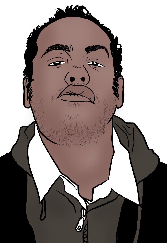 dessin auto portrait Alex RIp