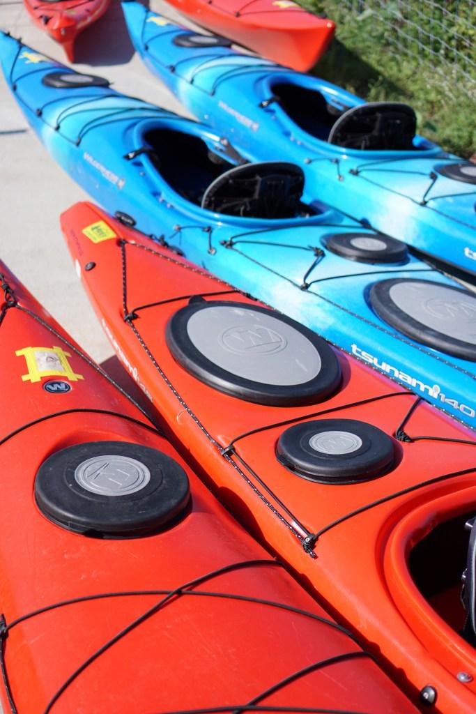 Kayaks on Northerly Island / Darker than Green