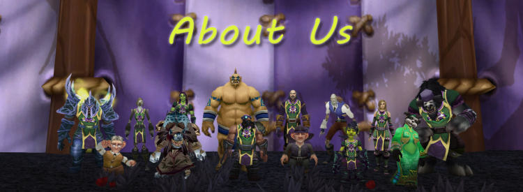 All members of the Darkmoon Times together in a somewhat organized group picture.