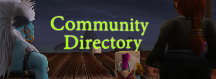 "People sitting/standing gazing at the memorizing ""Community Directory""."