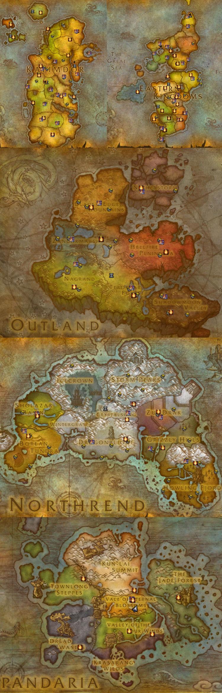 Map of Bonfires for Midsummer Fire Festival
