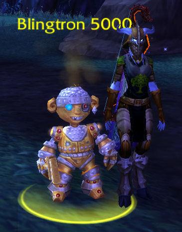 Blingtron giving a quest