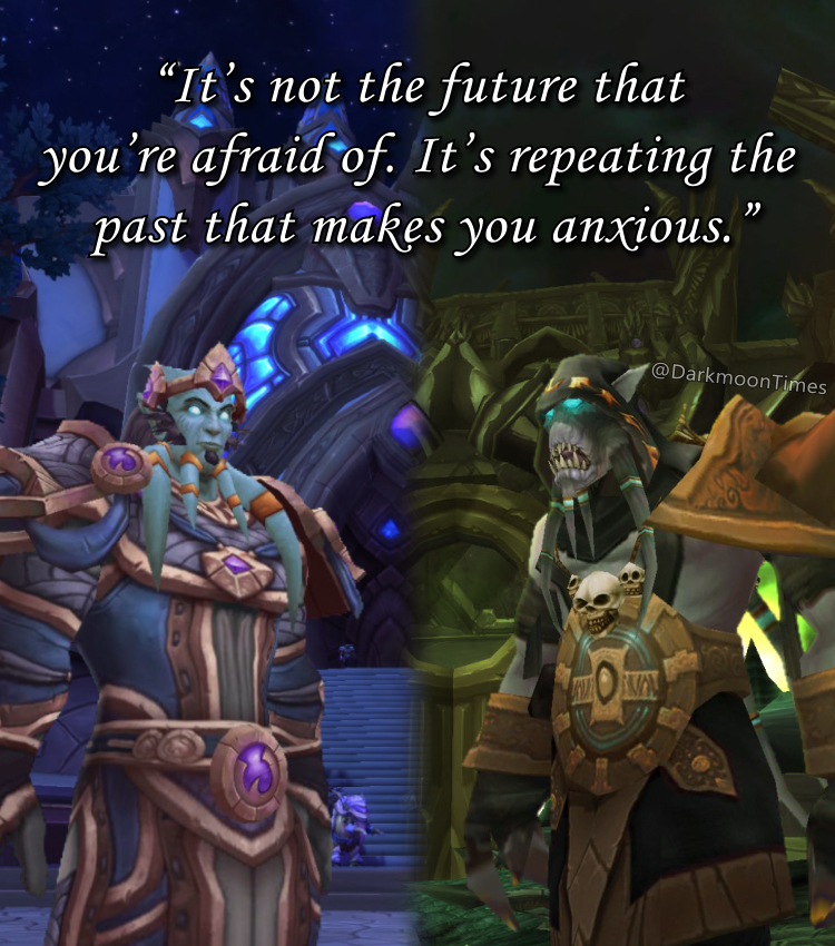 Moonfang's around to look back in time and remind you that it's not the future that worries you.