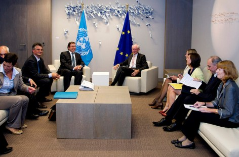 """Meeting with Mr. Achim Steiner, Executive Director of the UNEP, Brussels, 24 May 2011"" by President of the European Council on Flickr"
