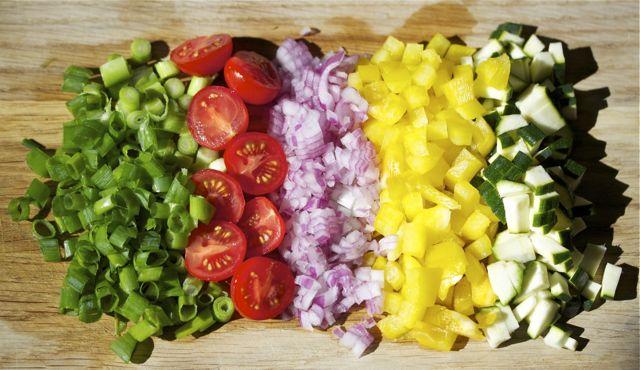 Überbackener-Feta-Gemüse-Griechische-Art