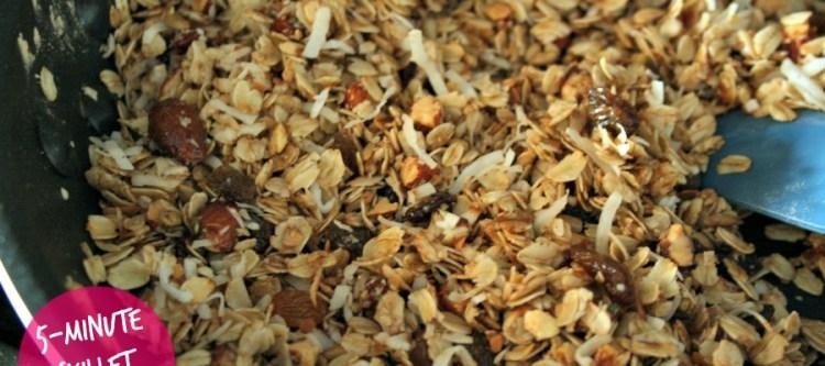 5-Minute Skillet Granola: Honey Roasted Almond