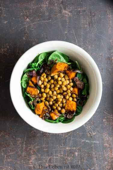 Kichererbsen-Spinat-Salat -3