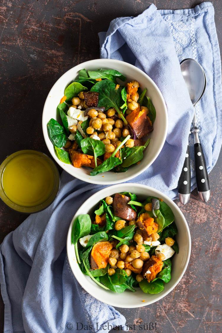 Kichererbsen-Spinat-Salat -4