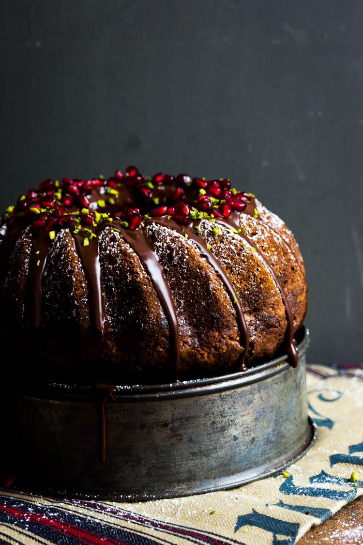 Marmorkuchen mit Schokolade und Granatapfel (40 von 69)