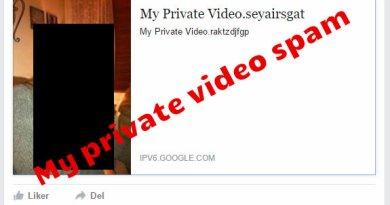 My private video facebook spam