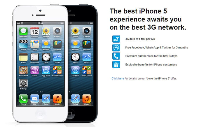RCom 3G bundled iPhone 5